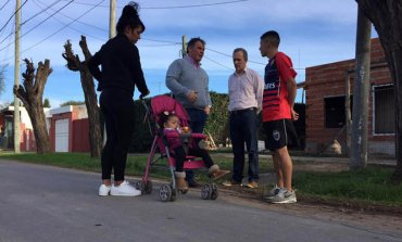Continúan las obras para mejorar un barrio de Derqui
