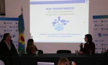 Para transparentar la labor legislativa, se presentó el nuevo portal web del Concejo Deliberante