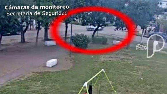 Video: Tras una persecución cayó un ladrón que había robado un auto