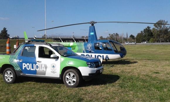 La Policía desplegó un mega operativo en la Panamericana que incluyó un helicóptero